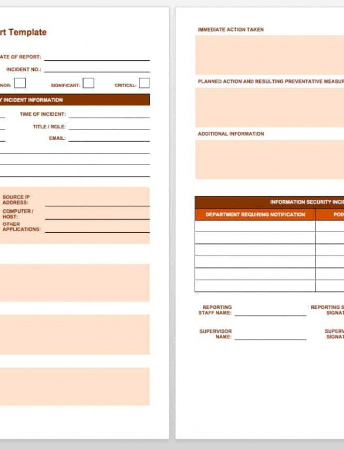 Editable Free Incident Report Templates & Forms  Smartsheet Security Monthly Report Template Word