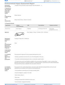 environmental impact assessment report template  use it free impact assessment report template