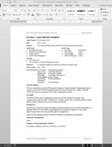 free fsms audit report example template  fds11604 audit report findings template sample