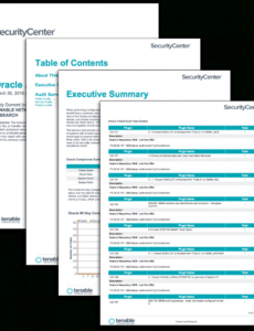 printable oracle audit results  sc report template  tenable® security monthly report template