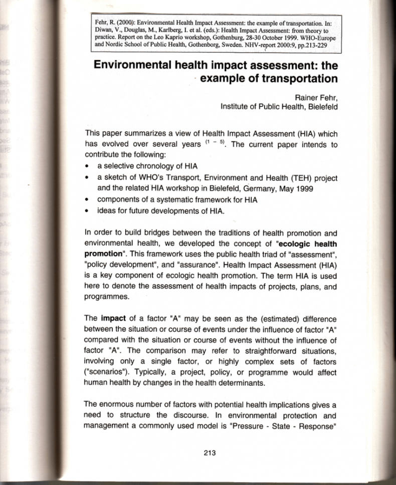 printable pdf environmental health impact assessment the example of impact assessment report template excel