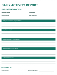 sample 50 essential business report templates  venngage daily operations report template word