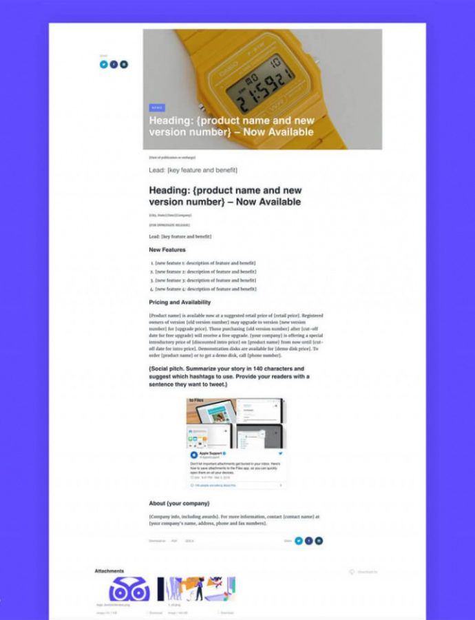 13 Free Press Release Templates For Any Occasion Download Modern Press Release Template Excel