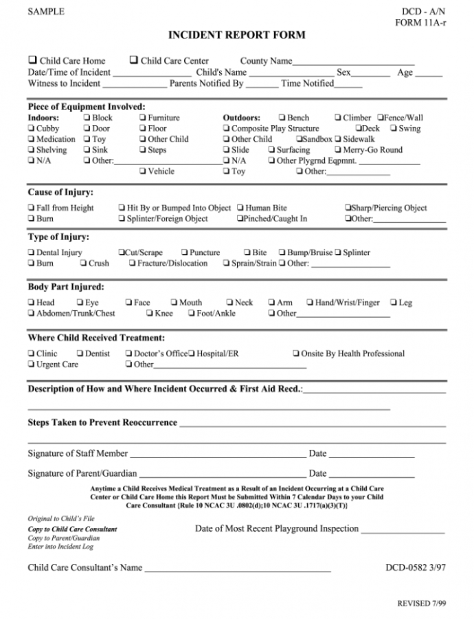 Child Care Incident Report Example Writing  Fill Online Care Home Incident Report Template Example