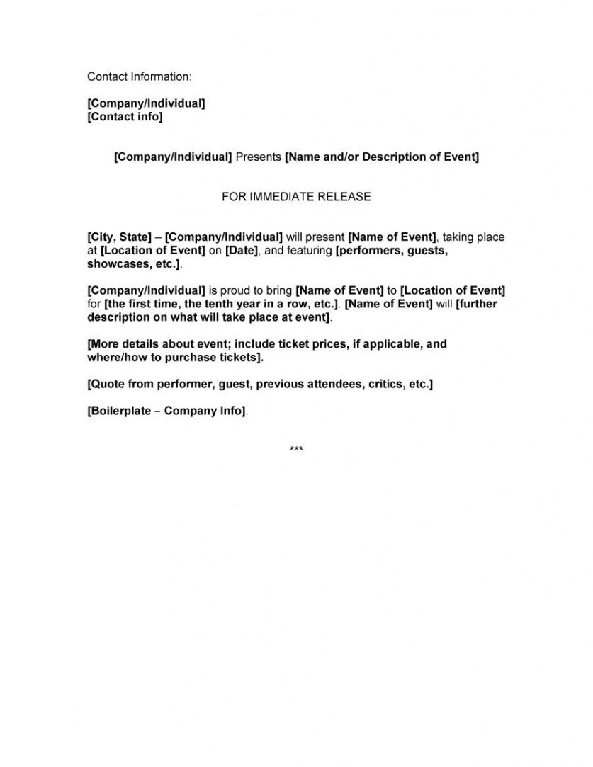 editable 47 free press release templates  free template downloads restaurant press release template sample