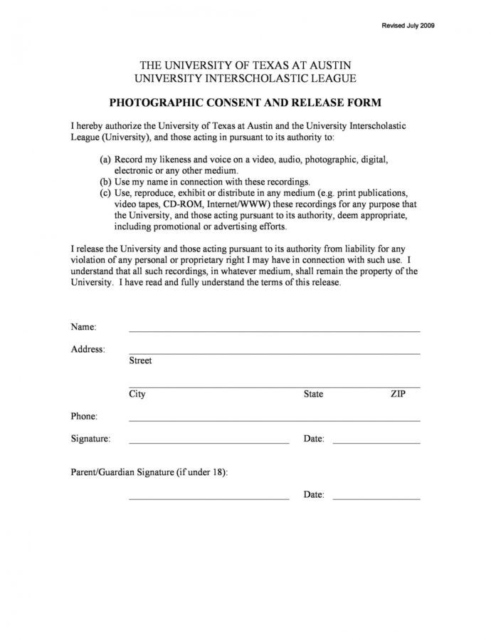 Editable 53 Free Photo Release Form Templates Word Pdf  Templatelab Photo Consent Release Form Template Sample
