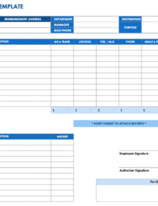 editable free expense report templates smartsheet gas expense report template example