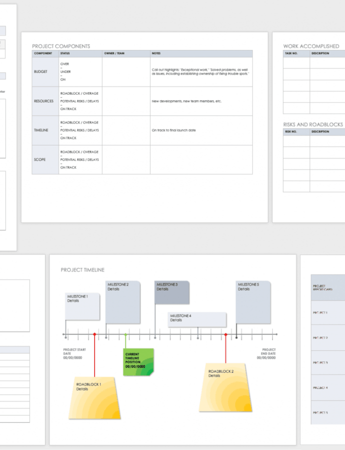 Editable Free Project Report Templates  Smartsheet Work In Process Report Template Doc