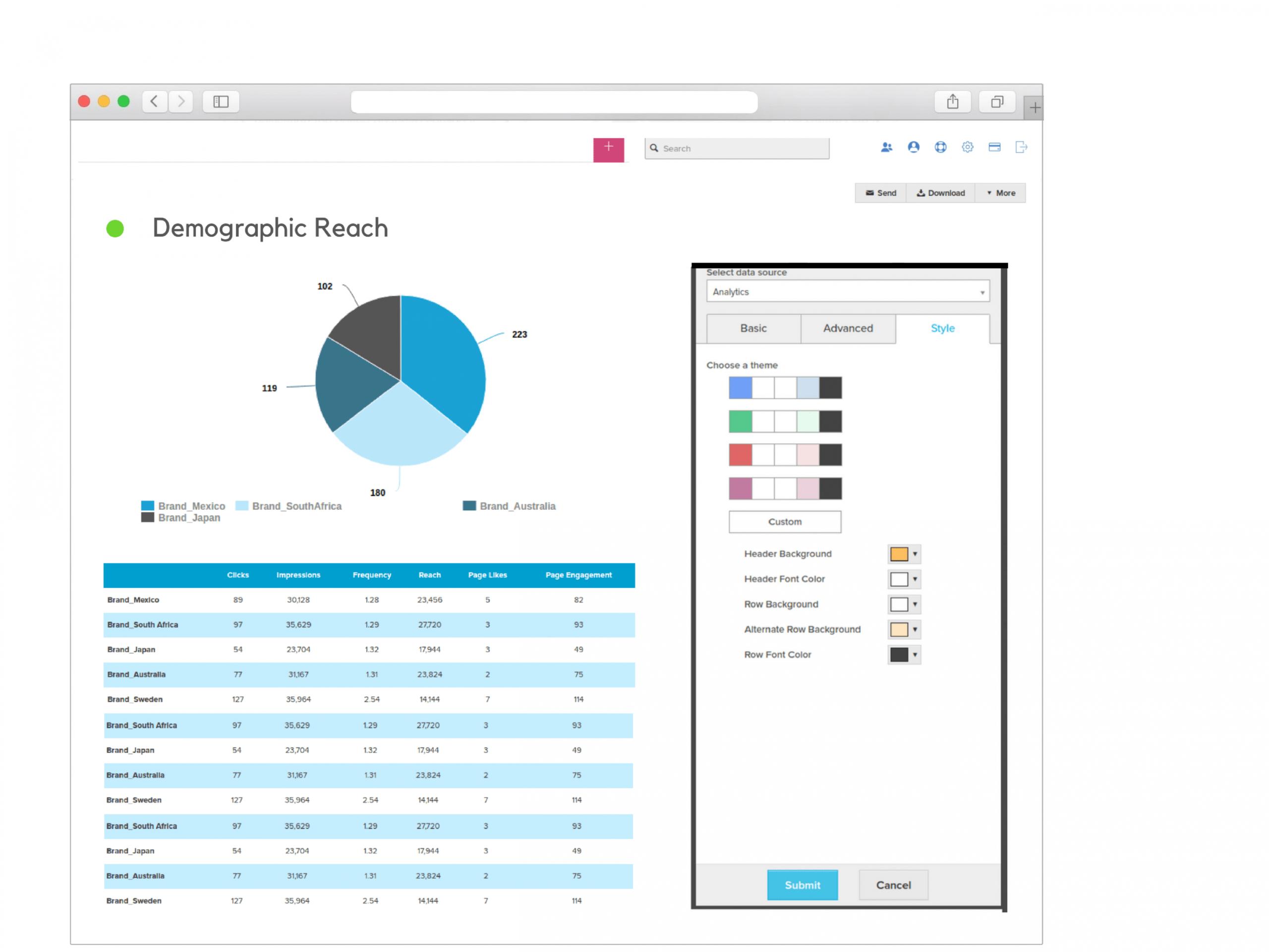editable social media report example pdf  reportgarden social media client report template doc