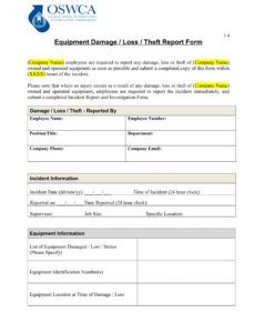 free 14 damage report forms in ms word  pdf  excel property damage report form template word