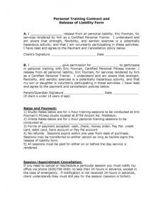 free 50 free release of liability forms liability waiver medical release of liability form template sample