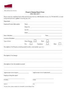 free free 14 damage report forms in ms word  pdf  excel property damage report form template pdf