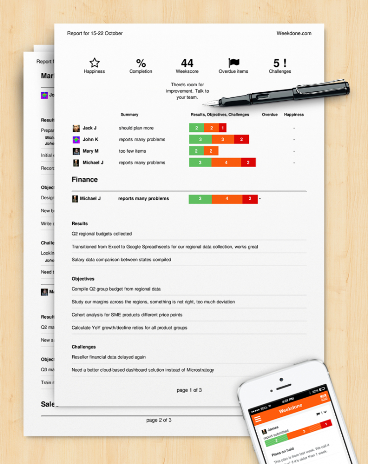 free how to write a progress report sample template  weekdone marketing progress report template word