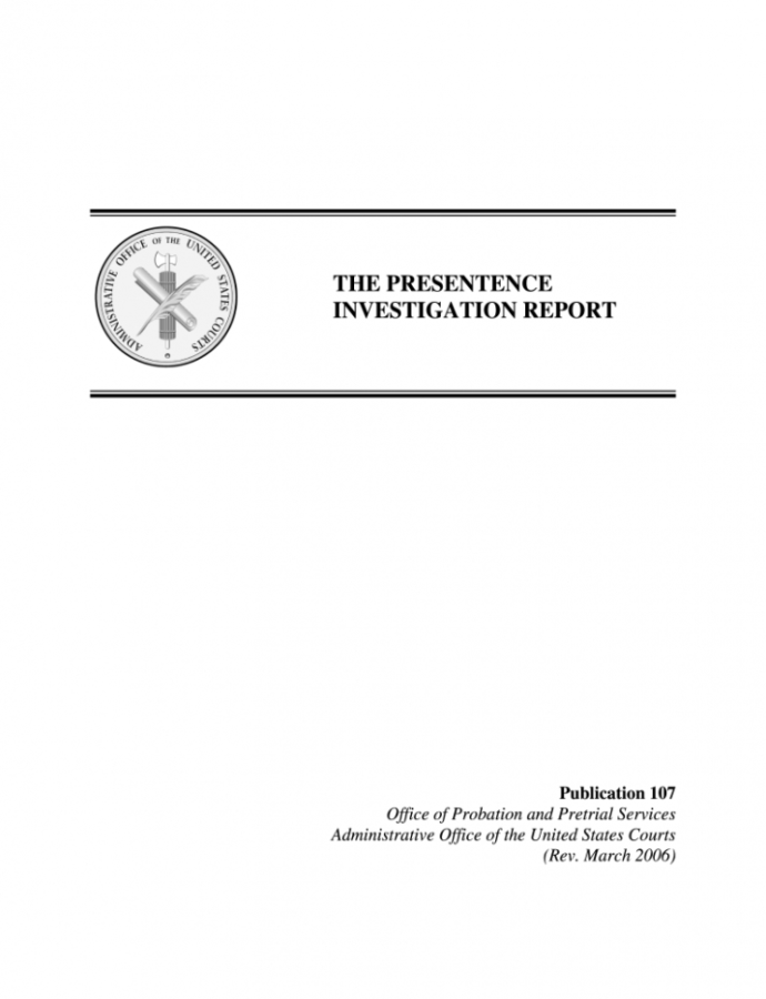 Free Pre Sentencing Investigation Report Example  Fill Online Presentence Investigation Report Form Template PDF