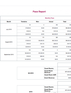hotel group sales crm software  social tables hotel pace report template