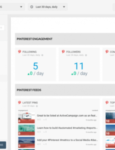 how to create social media marketing report social media client report template sample