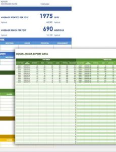 printable 12 free social media templates  smartsheet media coverage report template example