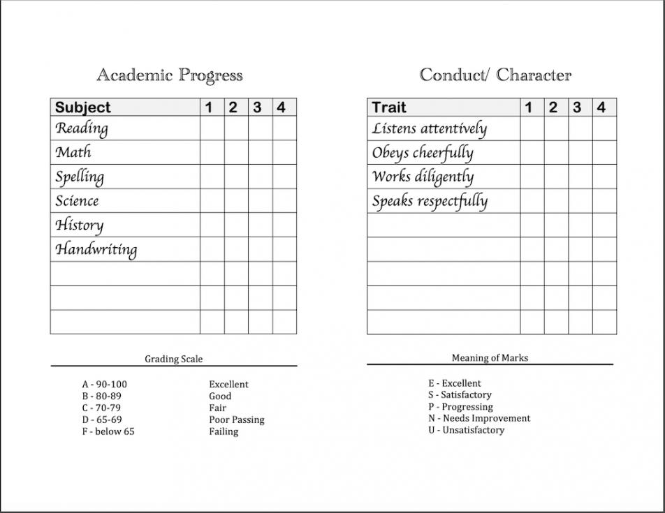 printable homeschool report cards  flanders family homelife summer school report card template pdf