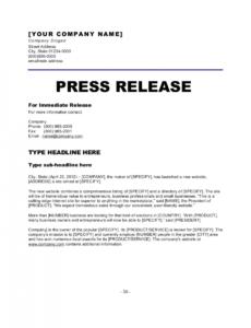 printable press release new website template  by businessinabox™ new website press release template pdf
