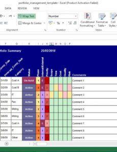 project portfolio management excel template project portfolio report template