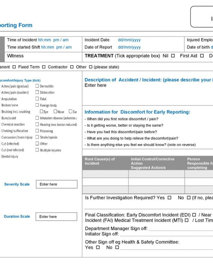Sample 60 Incident Report Template Employee Police Generic Dental Incident Report Form Template Sample