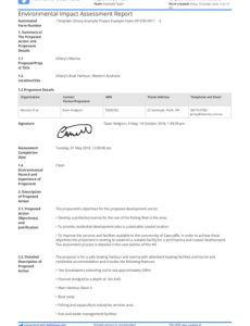 sample environmental impact assessment report template  use it free it assessment report template sample