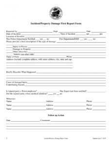 sample free 14 damage report forms in ms word  pdf  excel property damage report form template example
