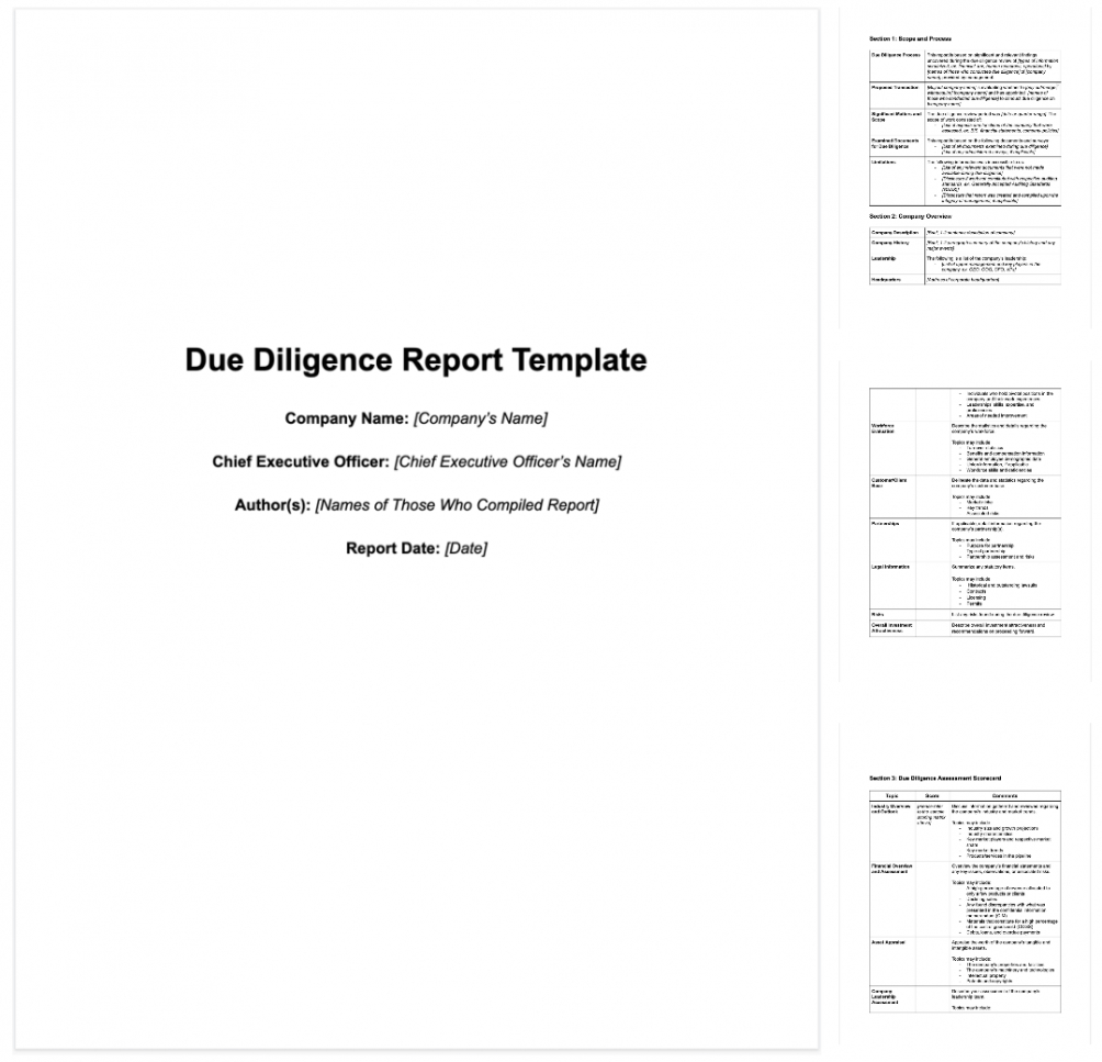 sample how to write an effective m&a due diligence report sample financial due diligence report template example