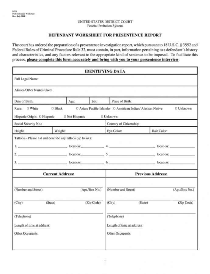 Sample Presentence Investigation  Fill Out And Sign Printable Pdf Template   Signnow Presentence Investigation Report Form Template Example