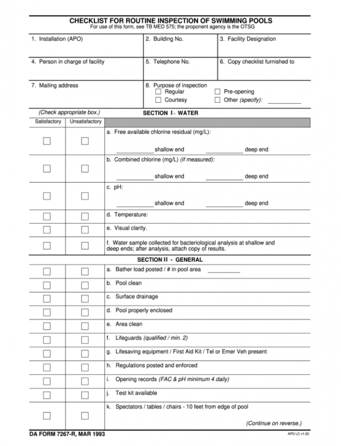 Sample Swimming Pool Inspection Report  Fill Online Printable Residential Building Inspection Report Template PDF