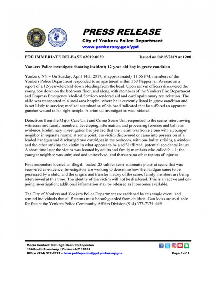 """Yonkers Police Hq On Twitter """"*** Press Release *** Yonkers Police Press Release Template PDF"""
