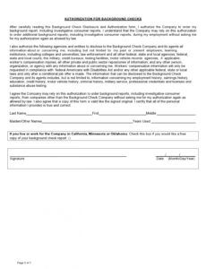 47 free background check authorization forms  templatelab background check report template pdf