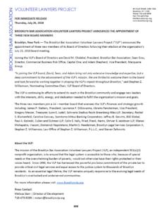 brooklyn volunteers lawyers project  newsbrooklyn new board member press release template word