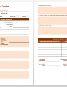 editable free incident report templates & forms  smartsheet security officer incident report template excel