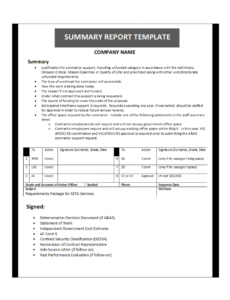 editable summary report template financial summary report template word