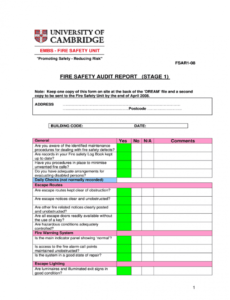 fire audit report  fill out and sign printable pdf template  signnow safety audit report template example