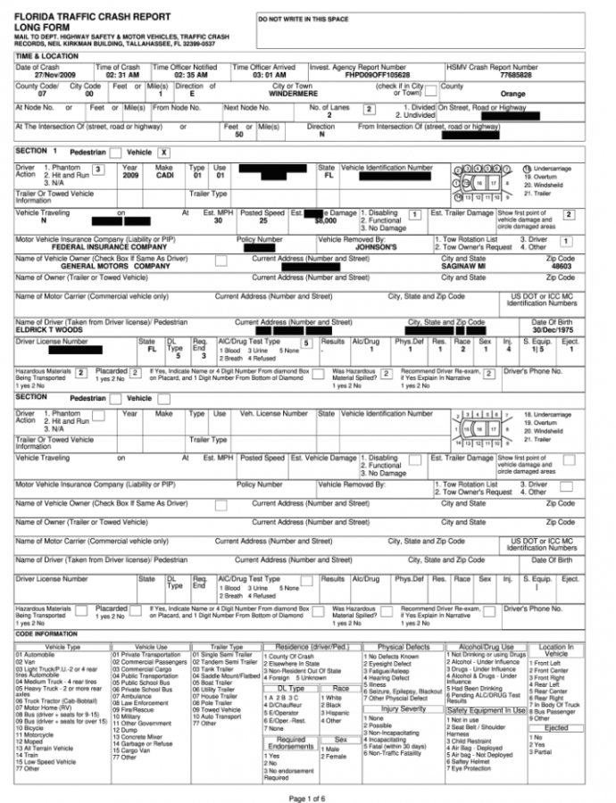 Florida Crash Report Form  Fill Out And Sign Printable Pdf Template   Signnow Traffic Accident Report Template Example