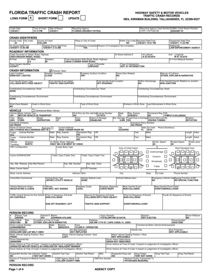 Free Accident Report  Fill Out And Sign Printable Pdf Template  Signnow Traffic Accident Report Template PDF