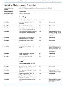 free building maintenance checklist better than pdf excel building maintenance report template excel