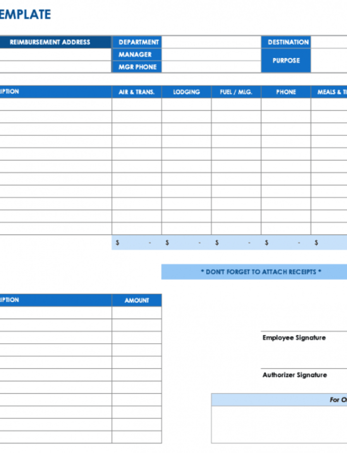 Free Expense Report Templates Smartsheet Quarterly Expense Report Template