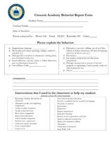 free free 13 behavior report forms in pdf behavior incident report template