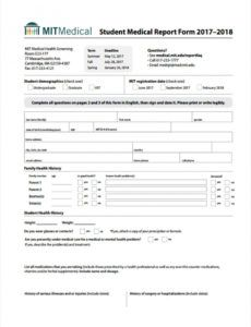 free free 7 medical report forms in pdf  ms word medical history report template example
