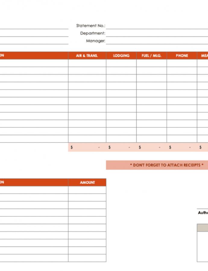 Free Free Expense Report Templates Smartsheet Independent Contractor Expense Report Template Example