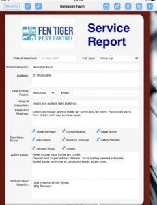 pest control uses ipad to prepare service report  form pest control report template doc