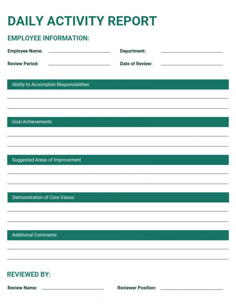 printable 50 essential business report templates  venngage client visit report template excel