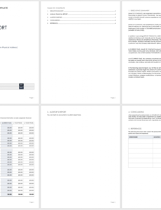 printable free year end report templates  smartsheet financial summary report template sample