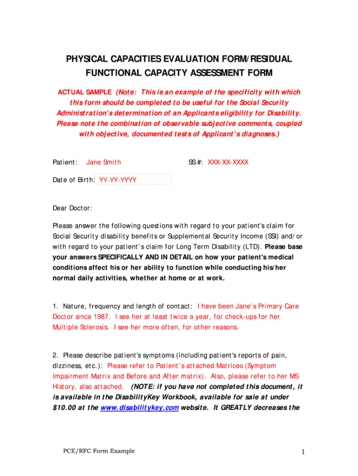 printable functional capacity evaluation sample  fill out and sign printable pdf  template  signnow functional capacity evaluation report template doc