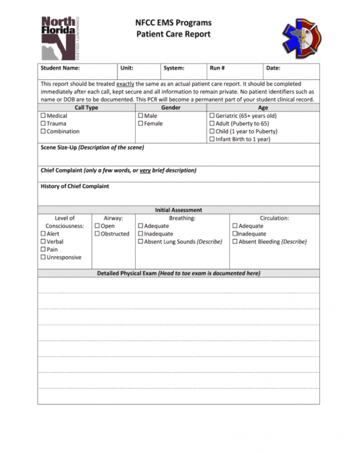 Printable Patient Care Report Template Doc  Fill Out And Sign Printable Pdf Template   Signnow Emt Patient Care Report Template Doc