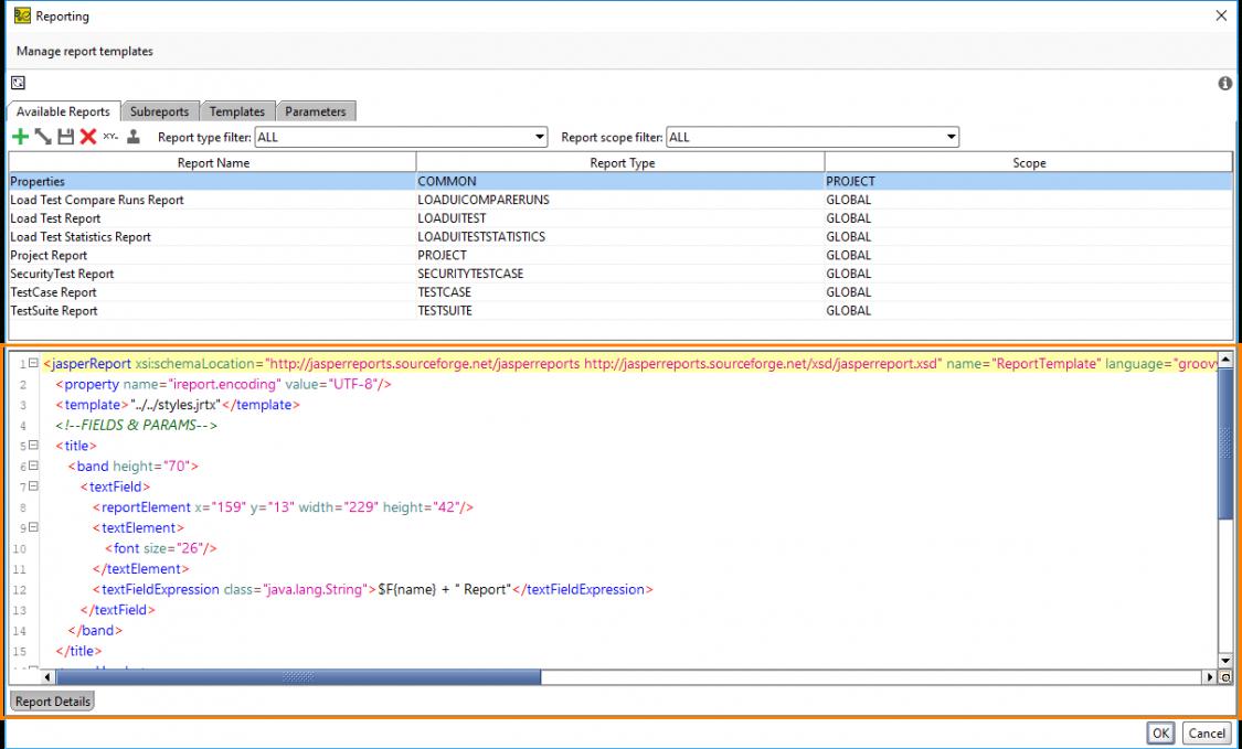 sample customizing templates tutorial  readyapi documentation load testing report template excel