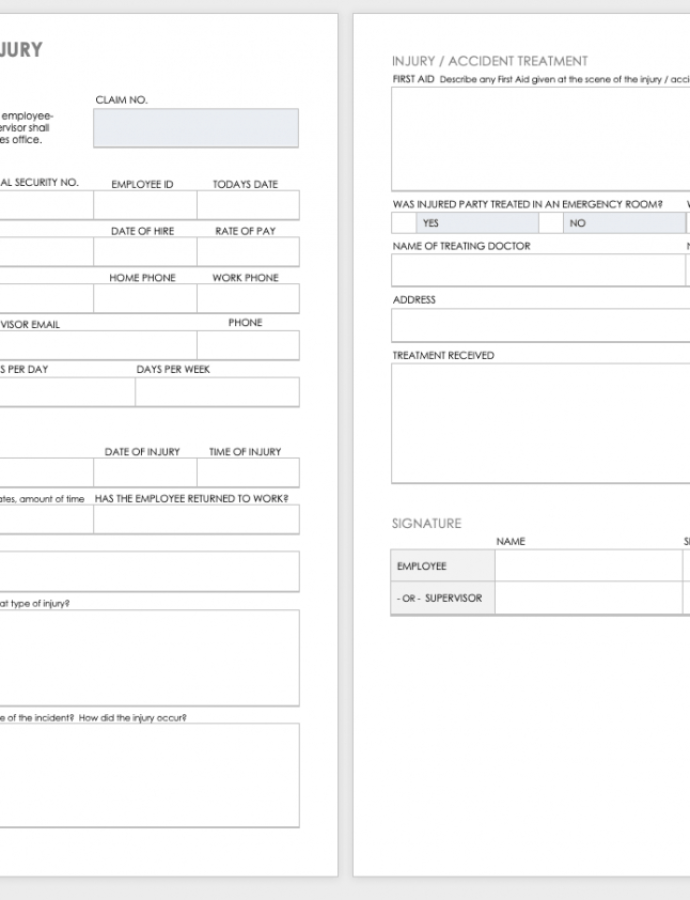 Sample Free Workplace Accident Report Templates  Smartsheet Accident Injury Report Template